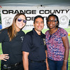 Orange County Probation Officers Carmen, John and Martena enjoyed the 19th year of the all-free National Night Out event in the City of Newburgh on Tuesday, August 2, 2016. Hudson Valley Press/CHUCK STEWART, JR.