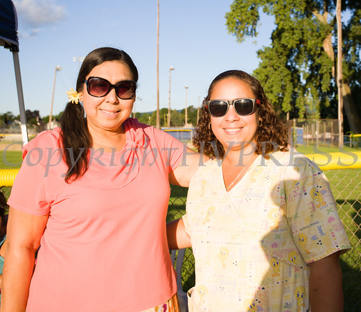Dr. Mercedes Blanche and Melitza Sandoz of MB Pediatrics at the 19th year of the all-free National Night Out event in the City of Newburgh on Tuesday, August 2, 2016. Hudson Valley Press/CHUCK STEWART, JR.