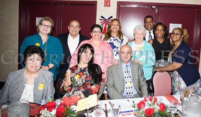 Members of the Latino Democratic Committee of Orange County were present for the Orange County Democratic Women 2016 Gala Dinner on Saturday, April 16, 2016 at La Casa Vicina in New Windsor, NY. Hudson Valley Press/CHUCK STEWART, JR.