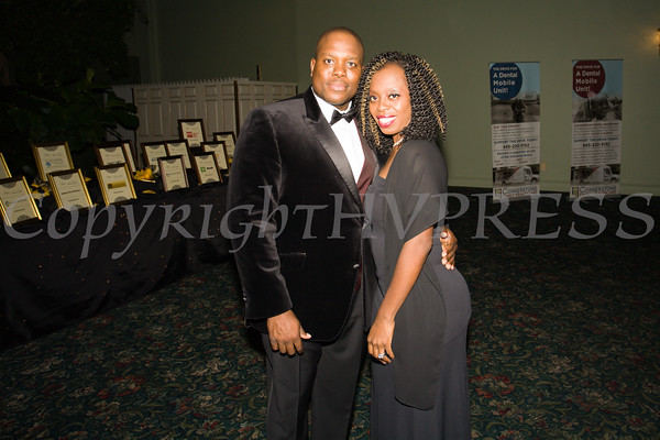 Mr. and Mrs. Patterson pose for a picture at Cornerstone Family Healthcare's 17th Annual Pillars of the Community Gala held at Anthony's Pier 9 on Saturday, November 5, 2016. Hudson Valley Press/CHUCK STEWART, JR.