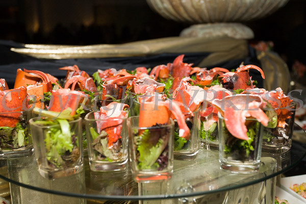 Amazing food was served throughout the cocktail hour of the Cornerstone Family Healthcare's 17th Annual Pillars of the Community Gala held at Anthony's Pier 9 on Saturday, November 5, 2016. Hudson Valley Press/CHUCK STEWART, JR.
