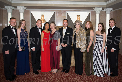Lifetime Achievement Pillar Derrik Wynkoop is joined by members of his family during Cornerstone Family Healthcare's 17th Annual Pillars of the Community Gala held at Anthony's Pier 9 on Saturday, November 5, 2016. Hudson Valley Press/CHUCK STEWART, JR.