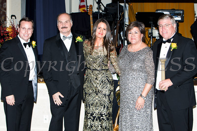 Josh Sommers, Marcel Martino, Lisa Sommers and Linda S. Muller present Thomas D. Weddell with the Distinguished Pillar Award during Cornerstone Family Healthcare's 17th Annual Pillars of the Community Gala held at Anthony's Pier 9 on Saturday, November 5, 2016. Hudson Valley Press/CHUCK STEWART, JR.