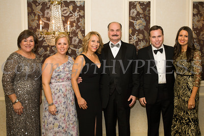 Linda S. Muller, Elizabeth Rowley, Christa Orsino, Marcel Martino, Josh and Lisa Sommers pose for a picture during Cornerstone Family Healthcare's 17th Annual Pillars of the Community Gala held at Anthony's Pier 9 on Saturday, November 5, 2016. Hudson Valley Press/CHUCK STEWART, JR.