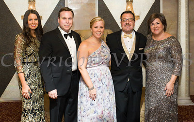 Lisa Sommers, Josh Sommers, Elizabeth Rowley, Derrik Wynkoop and Linda S. Muller pose for a picture during Cornerstone Family Healthcare's 17th Annual Pillars of the Community Gala held at Anthony's Pier 9 on Saturday, November 5, 2016. Hudson Valley Press/CHUCK STEWART, JR.