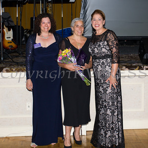 Safe Homes Board of Directors Chair Christine Fitzgerlad, presents the Jane Chertock Legacy Award to Dr. Marie Cantu along with Safe Homes Executive Director Kellyann Kostyal-Larrier as Safe Homes of Orange County celebrated its 30th Anniversary with a Celebration of Hope Gala on Friday, October 21, 2016. Hudson Valley Press/CHUCK STEWART, JR.