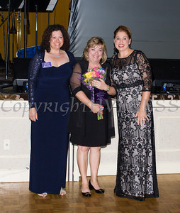 Safe Homes Board of Directors Chair Christine Fitzgerlad, presents the Mildred Warren Good-Neighbor Award to Dr. Michele Winchester-Vega along with Safe Homes Executive Director Kellyann Kostyal-Larrier as Safe Homes of Orange County celebrated its 30th Anniversary with a Celebration of Hope Gala on Friday, October 21, 2016. Hudson Valley Press/CHUCK STEWART, JR.