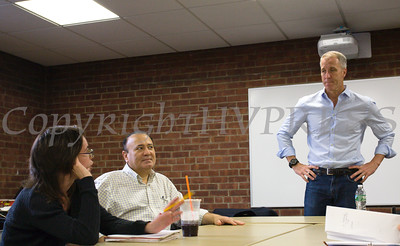 "US Rep. Sean Patrick Maloney (NY-18) hosted his 56th ""Speak with Sean"" neighborhood office hours in Newburgh on Saturday, June 11. Hudson Valley Press/CHUCK STEWART, JR."