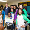 """Americorps volunteers pose wth US Rep Sean Patrick Maloney (NY-18) during his """"Speak with Sean"""" neighborhood office hours in Poughkeepsie at the Family Partnership Center in Poughkeepsie, NY on Saturday, February 27, 2016. Hudson Valley Press/CHUCK STEWART, JR."""