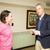 """Brittania Smead speaks wth US Rep Sean Patrick Maloney (NY-18) during his """"Speak with Sean"""" neighborhood office hours in Poughkeepsie at the Family Partnership Center in Poughkeepsie, NY on Saturday, February 27, 2016. Hudson Valley Press/CHUCK STEWART, JR."""
