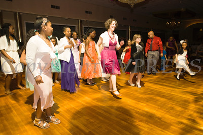 "Young girls enjoyed dancing the ""Electric Slide"" during the Boys & Girls Club of Newburgh's 2nd Annual Stand By Me Gala on Saturday, May 14 at the Meadowbrook Lodge in New Windsor, NY. Hudson Press/CHUCK STEWART, JR."