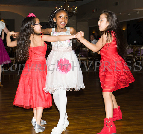 Young girls enjoy the dance floor during the Boys & Girls Club of Newburgh during the 2nd Annual Stand By Me Gala on Saturday, May 14 at the Meadowbrook Lodge in New Windsor, NY. Hudson Press/CHUCK STEWART, JR.