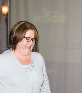 Regina McGrade was honored during the 24th Annual Tribute to Women of Achievement of Orange County held at West Hills Country Club in Middletown, NY on Wednesday, May 11, 2016. Hudson Press/CHUCK STEWART, JR.