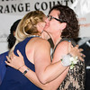 Honoree Kellyann Kostyal-Larrier embraces Christine Sadowski during the 24th Annual Tribute to Women of Achievement of Orange County held at West Hills Country Club in Middletown, NY on Wednesday, May 11, 2016. Hudson Press/CHUCK STEWART, JR.