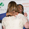 Honoree Patt Smith embraces Pamela Anderson during the 24th Annual Tribute to Women of Achievement of Orange County held at West Hills Country Club in Middletown, NY on Wednesday, May 11, 2016. Hudson Press/CHUCK STEWART, JR.