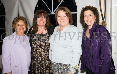 Daisy Vale (2010), Lynn Allen Cione (2015), Regina McGrade (2016) and Sharon Warantz (2008), all Women of Achievement, at the 24th Annual Tribute to Women of Achievement of Orange County held at West Hills Country Club in Middletown, NY on Wednesday, May 11, 2016. Hudson Press/CHUCK STEWART, JR.