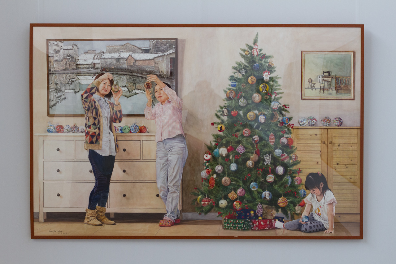 Leung Yun Charm: Christmas Wishes (2014, watercolor on paper)