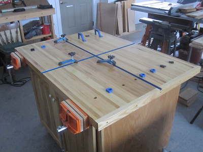 "FINISHED PRODUCT….ROLLING BUTCHER-BLOCK WORKSTATION  36"" X 48""  SPRING OF 2014?"