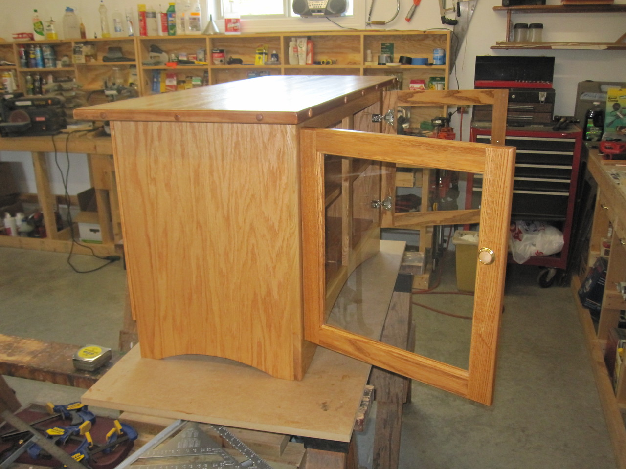 LEARNED A LOT BUILDING THIS CABINET WITH PANEL-TYPE DOORS & EURO HINGES  FEBRUARY 2012