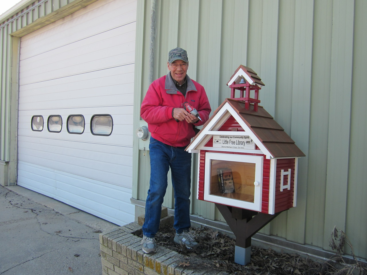 """April 2012 INSTALLED THE """"LITTLE-FREE-LIBRARY"""" AT OUR TOWN HALL, REQUESTED BY THE LOCAL """"STONE MOTHERS' CLUB"""""""