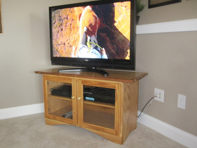 MARCH 2012 FINALLY FINISHED THE BASEMENT ENTERTAINMENT CENTER.  WHITE ASH WITH SOME CHERRY TRIM