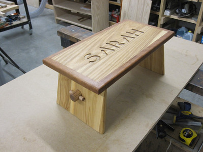 WHITE ASH TOP WITH CHERRY EDGING & CROSSBAR