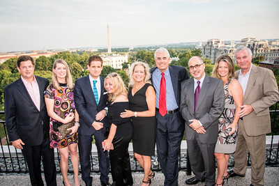 "Matt Lauer and Samantha Sault host the first annual ""Dead of Summer"" party at the rooftop of the Hay Adams.  July 22, 2016, photo by Ben Droz."