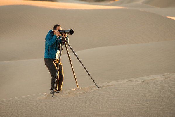 Willie photographing the Mesquite Sand Dunes