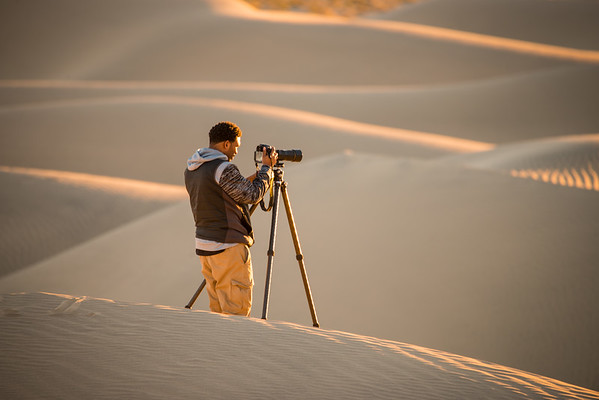 David Thompson took us out on our 2nd morning in Death Valley and showed us where all the great spots were!