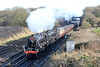 14 December 2016 :: LMS Class 5MT 4-6-0 Nos 44871 + 45407 pass Potbridge working 1Z45, The Cathedrals Express from Ashford to Winchester