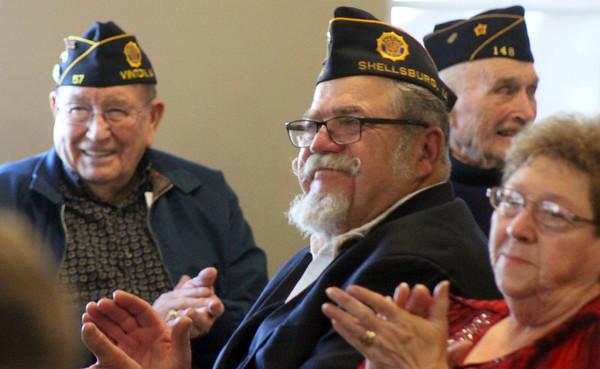 Dedication of new Van Horne veteran's  memorial
