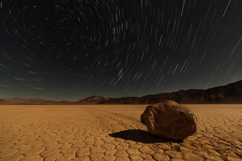 Death Valley's Racetrack rocks are a beautiful and interesting puzzle of nature.