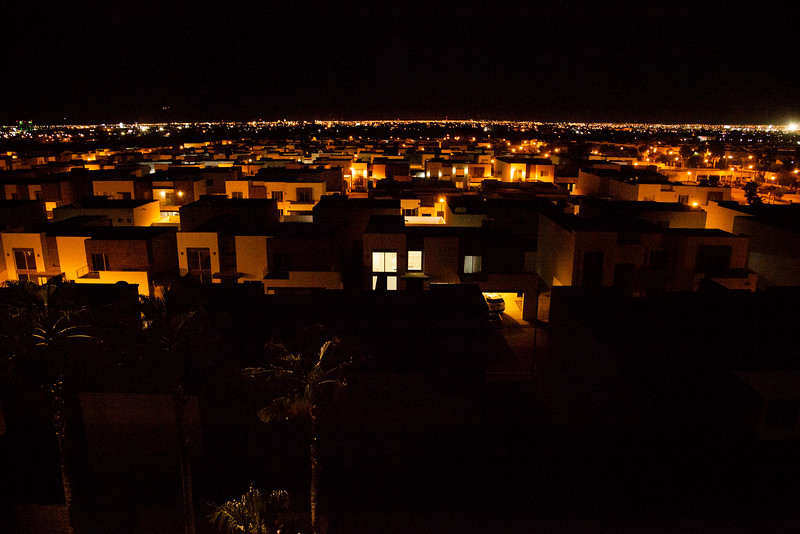 The city of Hermosillo, Mexico glows on well into the night.