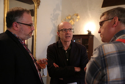 Ben Reiser (Wisconsin Film Festival), JJ Murphy (Department of Communication Arts) and Jim Healy (Wisconsin Film Festival)