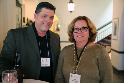Zack Robbins (Arts Institute) and Diane Morgenthaler (Madison Visitors Bureau)