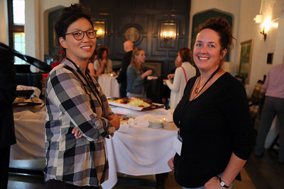 Helen Lee (Art Department) and Angela Richardson (Bolz Center)