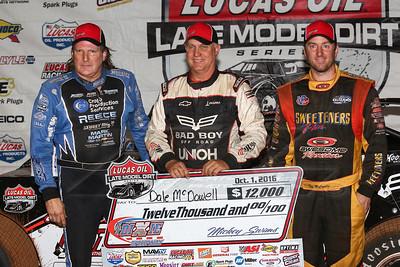 Scott Bloomquist (L), Dale McDowell (C) and Tim McCreadie (R)
