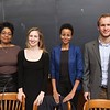 Presenters from the Justice Collaboratory.<br /> From Left to Right: Professor Tracey Meares; Program Director Megan Quattlebaum '10; and current students, Asli Bashir '17 and Matt Ampleman '17.