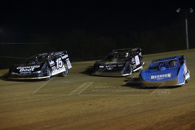Kyle Bronson (40), Casey Roberts (101) and Darrell Lanigan (15)