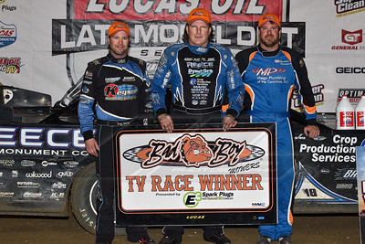 Greg Satterlee (L), Scott Bloomquist (C) and Jonathan Davenport (R)