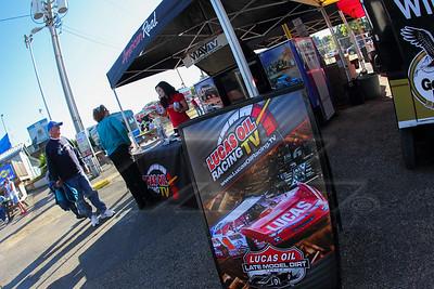 Lucas Oil Racing TV midway display