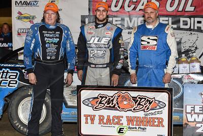 Scott Bloomquist (L), Mason Zeigler (C) and Dennis Erb, Jr. (R)