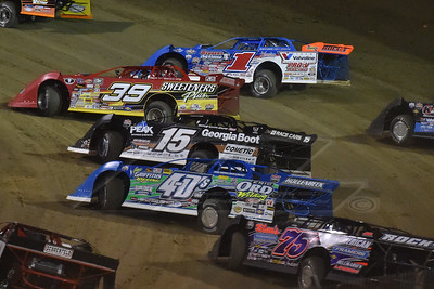 Josh Richards (1), Tim McCreadie (39), Darrell Lanigan (15), Chad Hollenbeck (4-D's) and Colton Flinner (75)