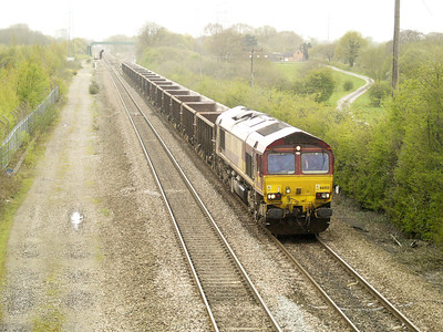 66055 1343_6m82 Walsall-Dowlow passes Stenson Junction   28/04/16.