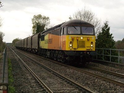 56302 1618_6E07 Washwood Heath-Boston passes Willington  28/04/16.