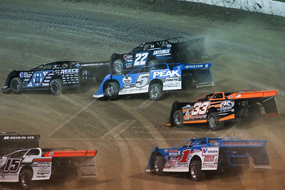 Scott Bloomquist (0), Gregg Satterlee (22), Don O'Neal (5), Ricky Thornton, Jr. (33), and Josh Richards (1)