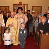 Metropolitan Nicholas, Fr. Scott Richard, Dcn. Alex Radulescu and the faithful
