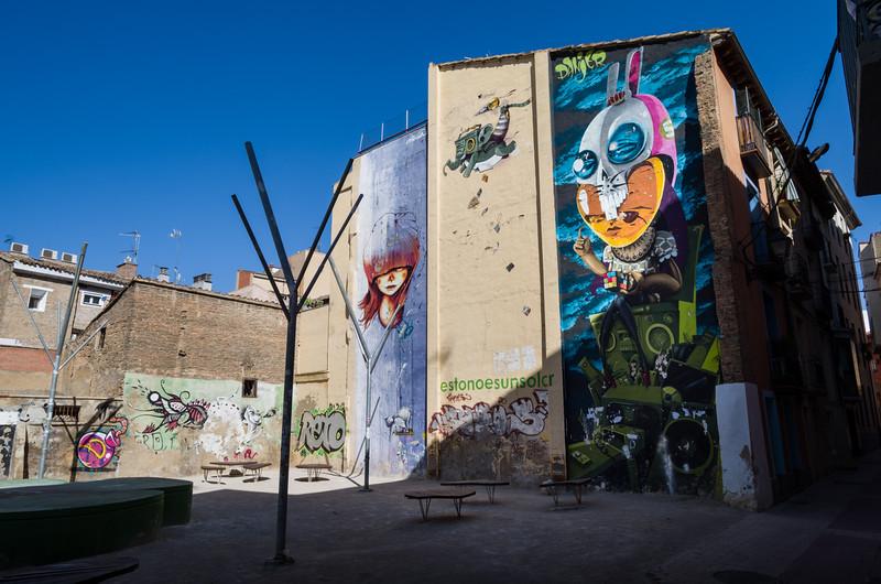 Arte urbano por artista tattoo y urbano Danjer Mola. Zaragoza, Spain.