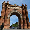 The Arc de Triumf was built by arquitecto Josep Vilaseca to serve as the main entrance for the 1888 Exposición Universal de Barcelona. Barcelona, Spain.