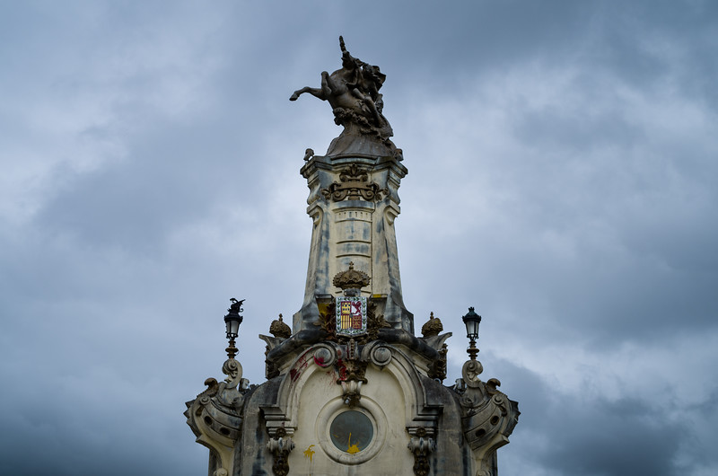 One of four statues which adorn la Puente de María Cristina, opened in 1905. Donostia-San Sebastián, Spain.